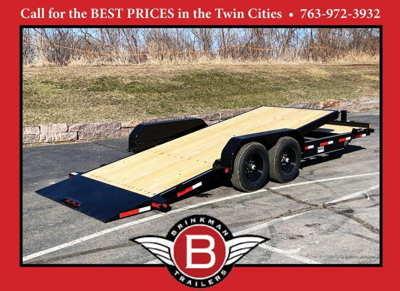 "Top Hat 83"" x 22' Tilt Bed Car/Bobcat Hauler - 14,000# GVWR"