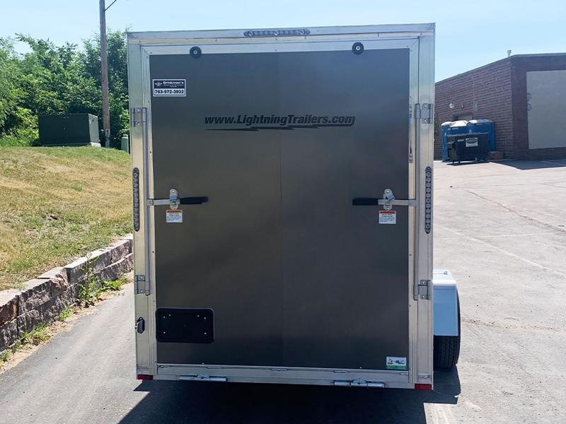 """Lightning 6x12 Aluminum Enclosed Trailer - 6'8"""" Int. - Rear Ramp!"""