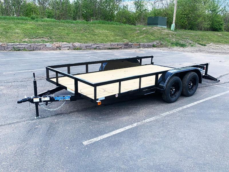 Top Quality Top Hat 83x14 Tandem Axle Utility Trailer - Rear Ramp!