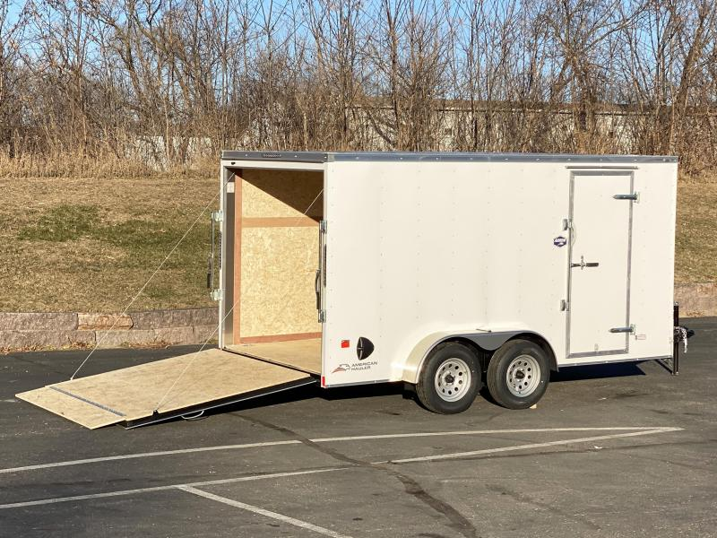 "American Hauler 7x14 Enclosed Trailer 6'6"" Interior - Ramp- HOT PRICE"