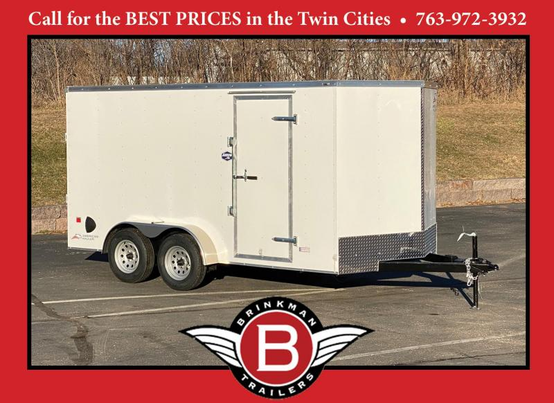 "American Hauler 7x14 Enclosed Trailer 6'6"" Interior - Ramp- HOT PRICE"
