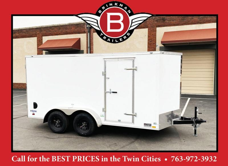Continental Cargo 7x14 V-Nose Enclosed Cargo Trailer - Rear Ramp