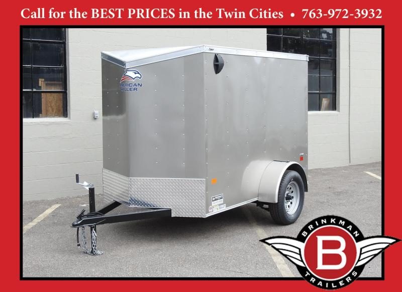 American Hauler 5x8 Enclosed Trailer - 3500# Axle! Best Deal!