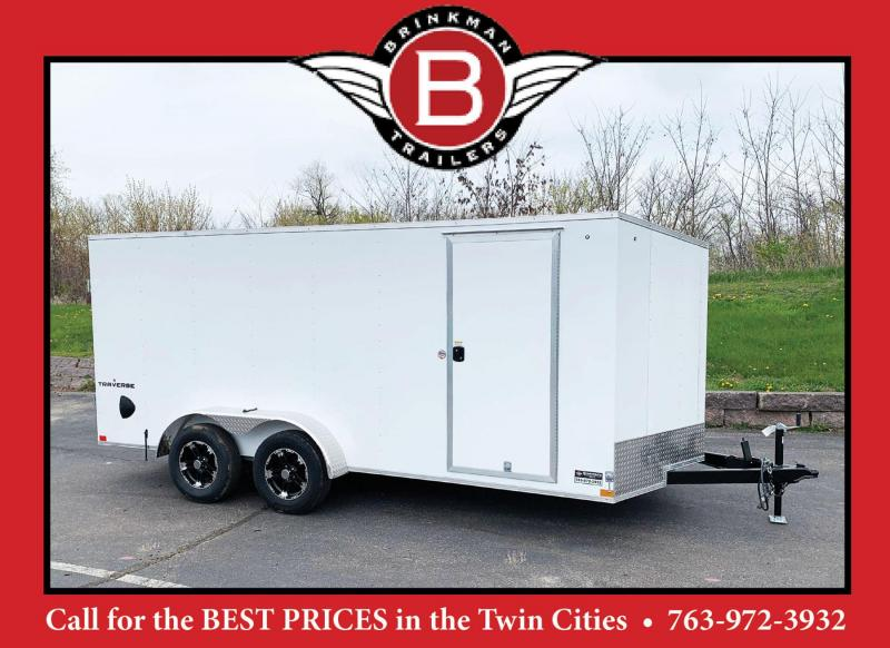 Formula 7x16 Traverse Enclosed Trailer - Double Rear Doors!