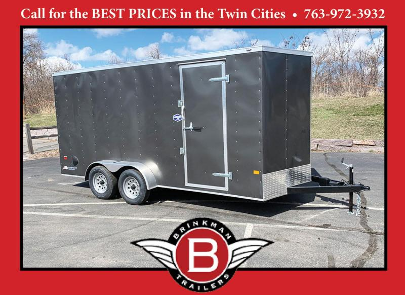American Hauler 7x16 Enclosed Trailer - 7' Int. - Rear Ramp!