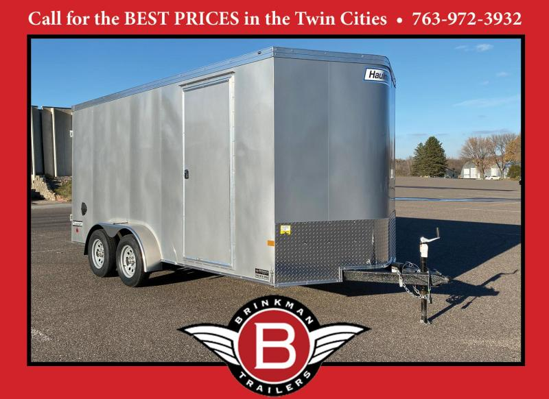 Deluxe 2021 Haulmark 7x16 Enclosed Cargo Trailer 7' Interior & Dbl Doors