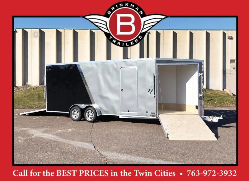 Lightning 7x25 Aluminum Enclosed Snowmobile Trailer - 7' Interior -UTV