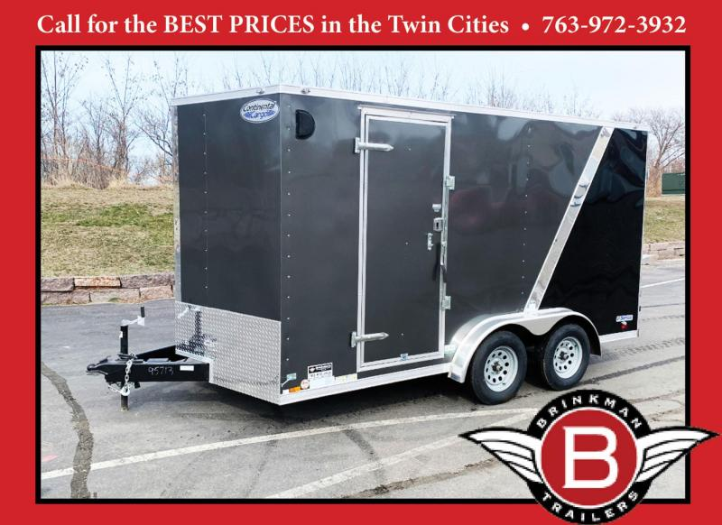 Continental 7.5x14 Enclosed Trailer - 7' Int - Rear Ramp!