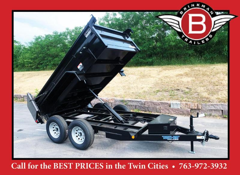 Top Quality Top Hat 5x10 Dump Trailer - 7000# GVWR - Single Cylinder Lift System!