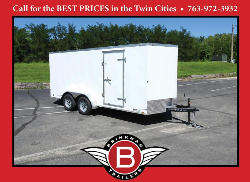 Great Value 2021 Continental Cargo 7x16 Enclosed Cargo Trailer with Dbl Doors.