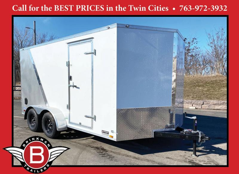 "Continental Cargo 7x14 V-Enclosed Cargo Trailer - Rear Ramp - 6'6"" Interior"