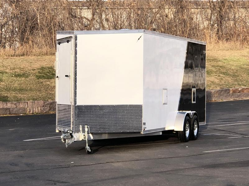 Lightning 7x25 Aluminum Enclosed Snowmobile Trailer - 7' Interior -UTV