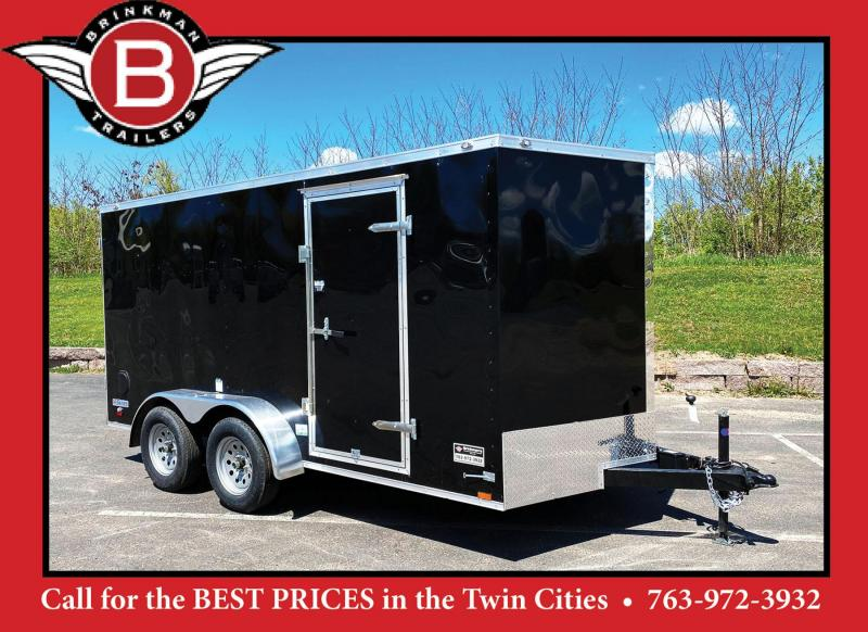 Continental 7x14 Enclosed Trailer - Rear Ramp!