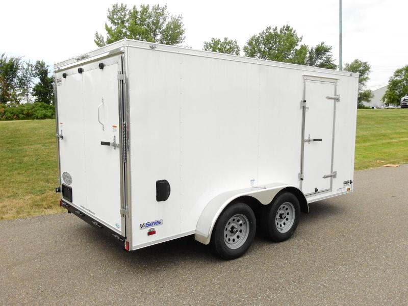 Continental Cargo 7x14 V-Nose Enclosed Cargo Trailer - Rear Ramp!