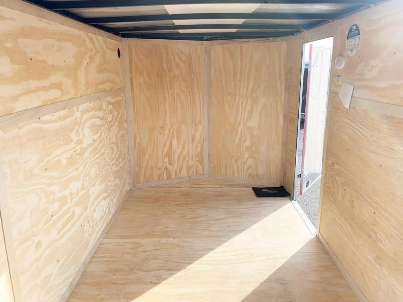 Continental 6.5x10 Enclosed Trailer - Rear Ramp!