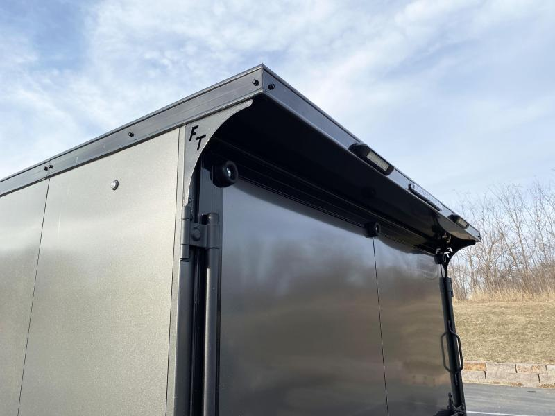 Formula 7x23 (18'+5'V) Aluminum Enclosed Snowmobile Trailer - SUPREME