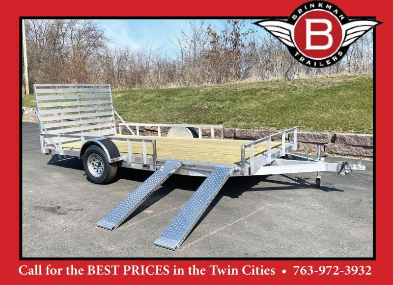 Quality Trophy 7x14 Aluminum Utility Trailer - Rear Ramp!