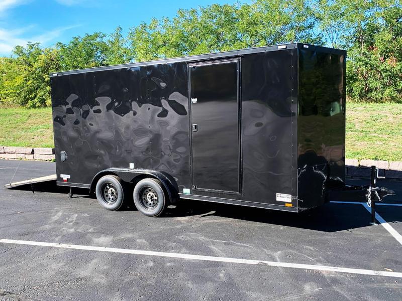 Continental Cargo Phantom 7.5x16 Enclosed Trailer - 7' Int. - Black Out Pkg!
