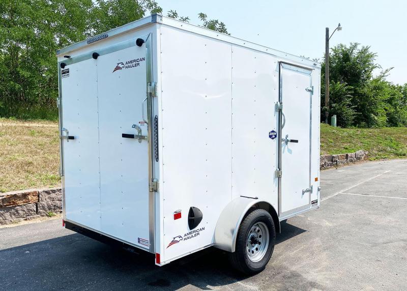 "Deluxe American Hauler 6x10 Enclosed Trailer - 6'6"" Int - Rear Ramp!"