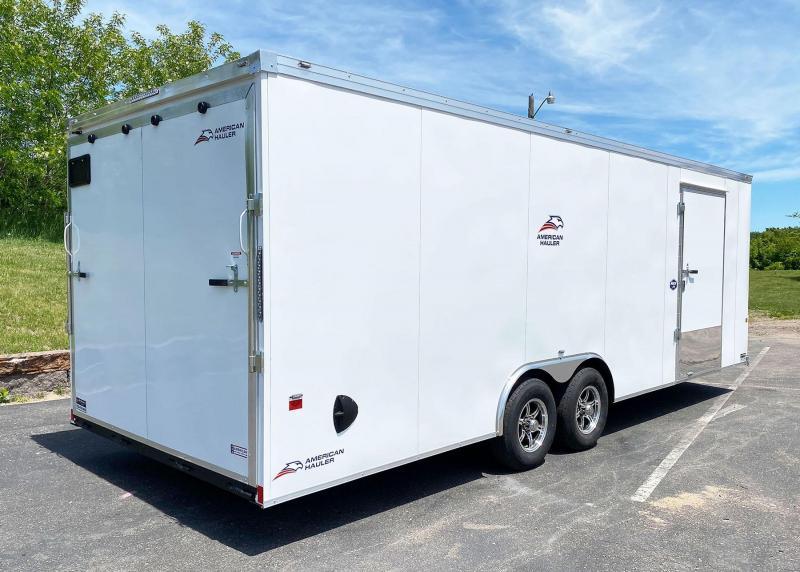 American Hauler 8.5 x 24 Enclosed Car Trailer - 7' Interior - UPGRADES!