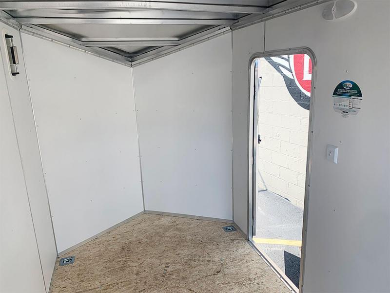 """Lightning 6 x 10 Enclosed Aluminum Cargo Trailer - 6'9"""" Int. - Rear Ramp!"""