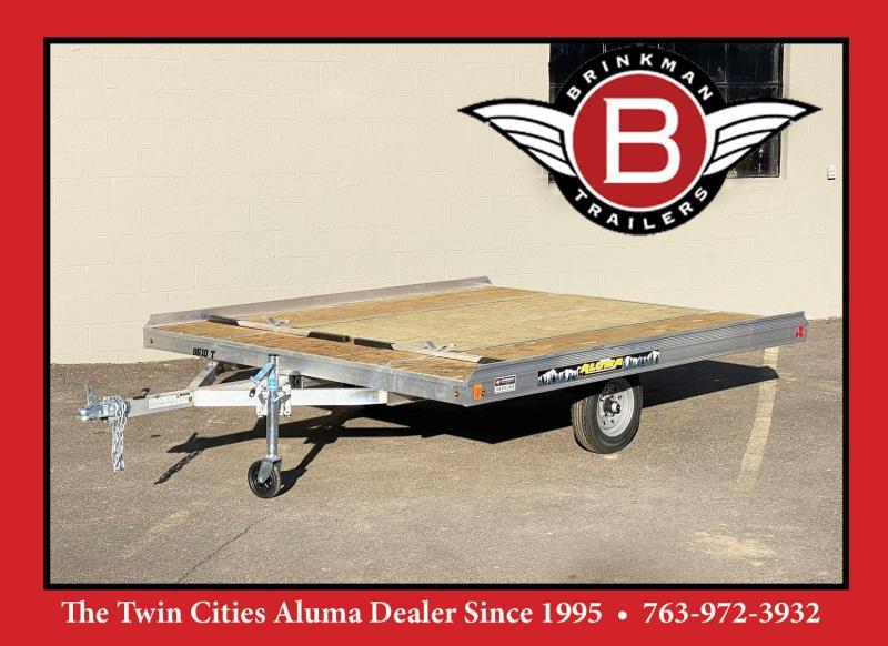 Aluma 8610 T (8.5 x 10) Aluminum 2-Place Tilt Bed Snowmobile Trailer