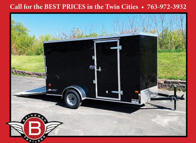 "Deluxe American Hauler 6x12 Enclosed Trailer - 6'6"" Int. - Rear Ramp!"