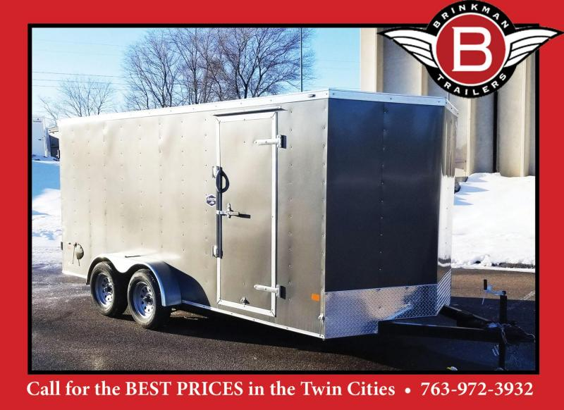 Deluxe American Hauler 7x16 Enclosed Contractor Trailer