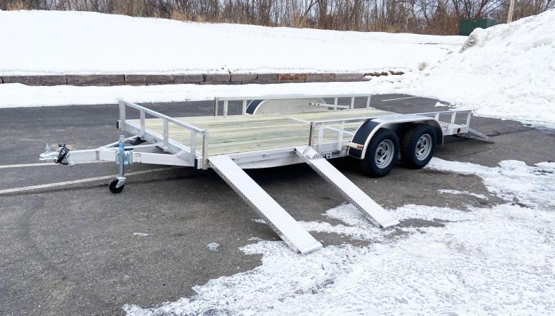 Trophy 7 x 16 Tandem Axle Aluminum ATV/UTV Trailer w/ Side Ramps
