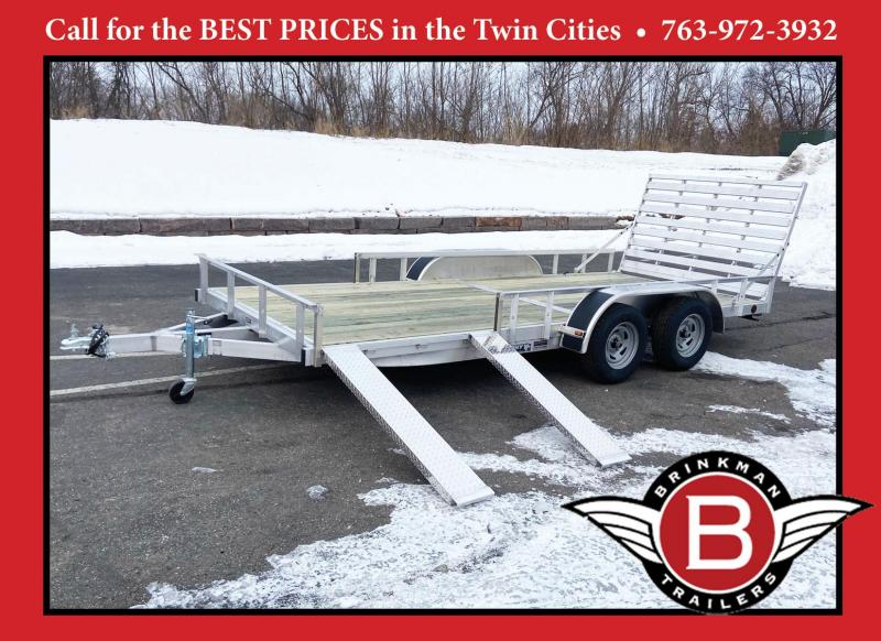 Trophy 7 x 16 Tandem Axle Aluminum ATV/UTV Trailer w/ Side Ramps