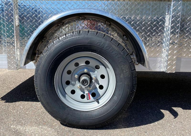 Quality Trophy 5x8 Aluminum Utility Trailer - Diamond Plate Sides - Stacked Ramps!