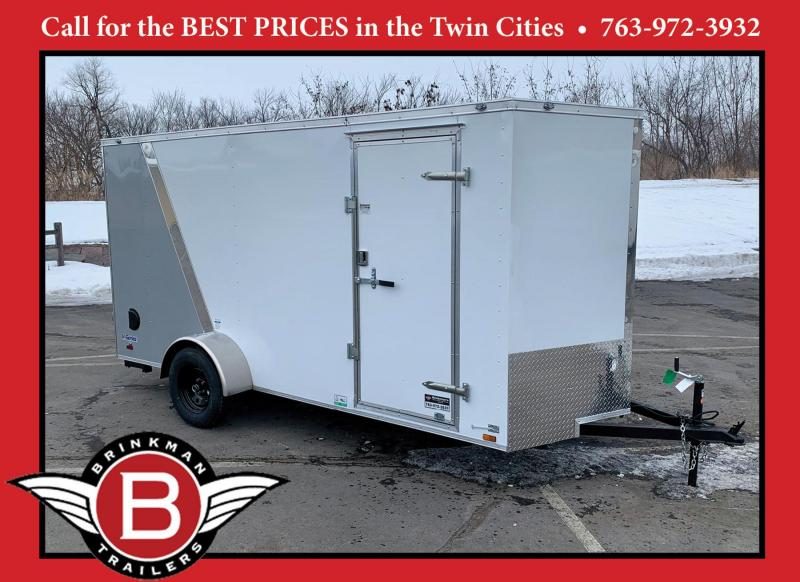 Deluxe Continental 6x14 Enclosed Cargo Trailer w/ Rear Ramp - 2- ATV's