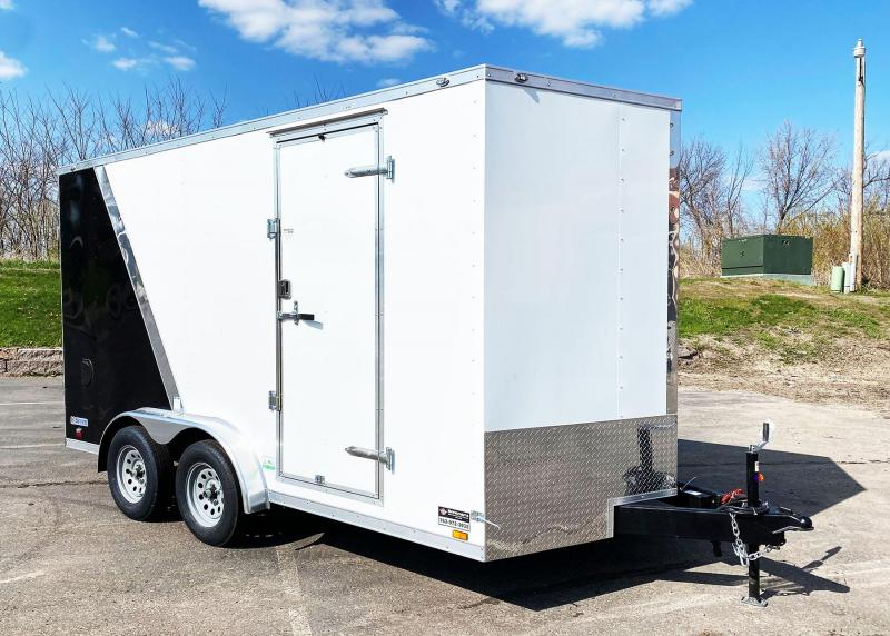 Continental 7.5x14 Enclosed Trailer - 7' Int. - Rear Ramp!