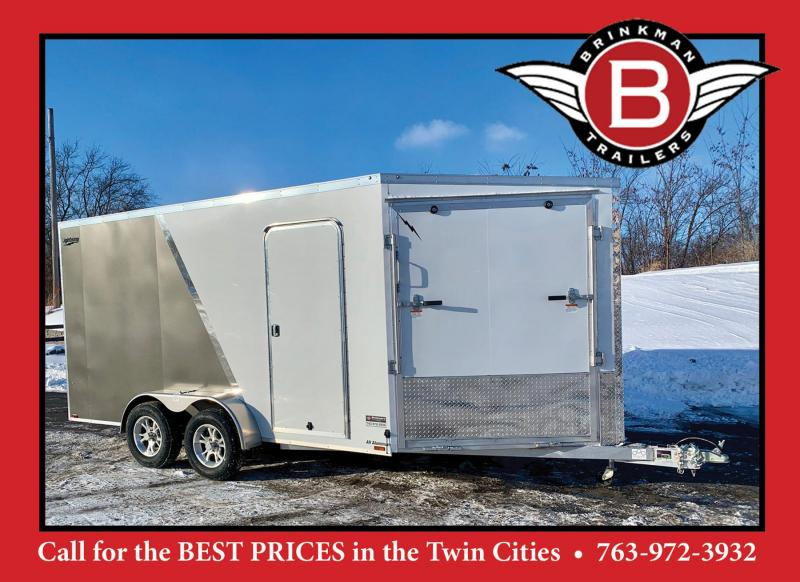 "Lightning 7x19 Aluminum Enclosed Snowmobile Trailer - 7'2"" Interior"