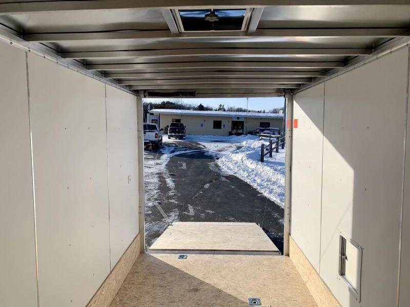 """Lightning 7x19 Aluminum Enclosed Snowmobile Trailer - 7'2"""" Interior"""