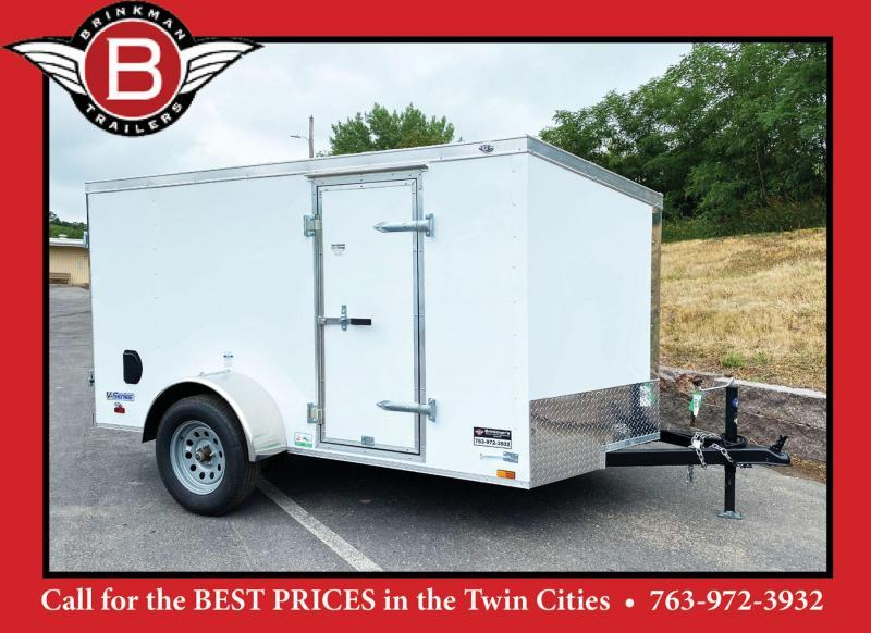 Continental 5.5x10 Enclosed Trailer - Double Rear Doors!
