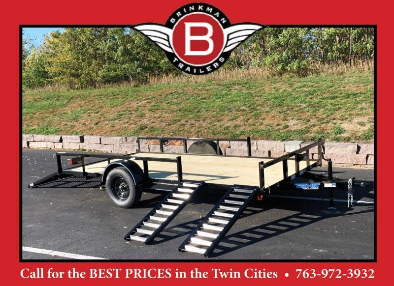 Top Quality Top Hat 83x14 QUAD Hauler Steel Utility Trailer - Side Ramps!