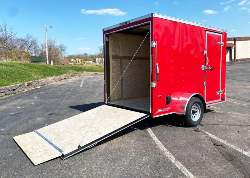 "Deluxe American Hauler 6x10 Enclosed Trailer - 6'6"" Int - Rear Ramp!"