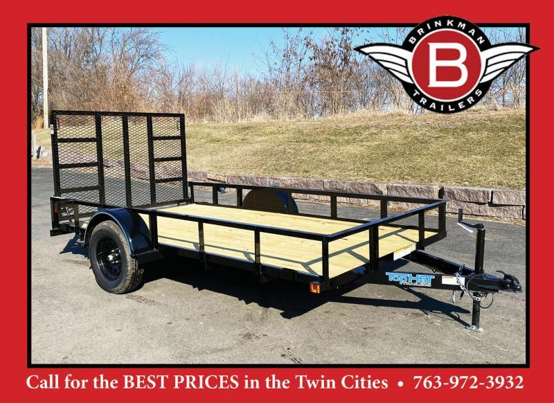 Top Quality Top Hat 77x12 Utility Trailer - Full Rear Ramp!