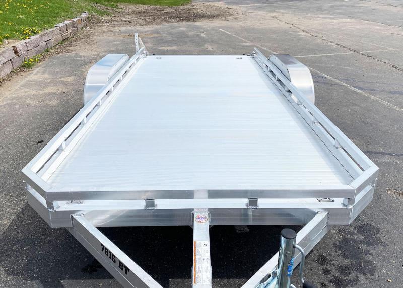 Aluma 7816 TA (78x16) Aluminum Utility Trailer - Bi-Fold Tailgate - 7,000# GVWR!