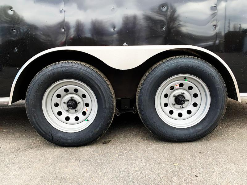 Deluxe American Hauler 7x16 Enclosed Tandem Axle Trailer - 7' Int. - Rear Ramp!