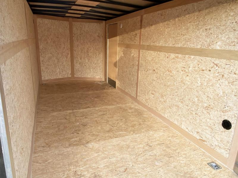 "Haulmark 7 x 16 Enclosed Trailer with 6'6"" Interior and Rear Ramp!"