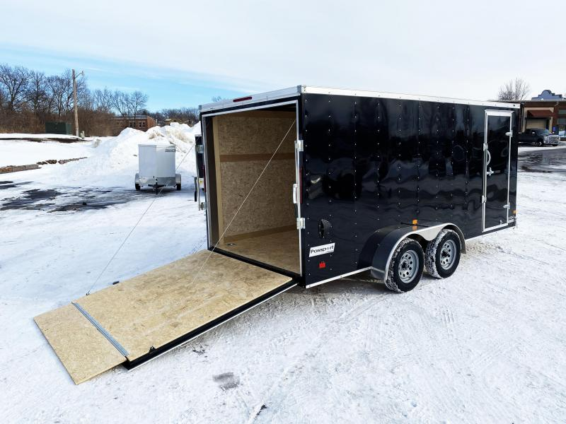 """Haulmark 7 x 16 Enclosed Trailer with Rear Ramp - 6'6"""" Interior"""
