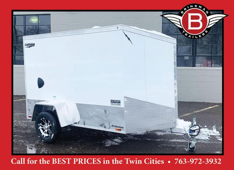 Lightning 5x8 Aluminum Enclosed Trailer - Rear Ramp!