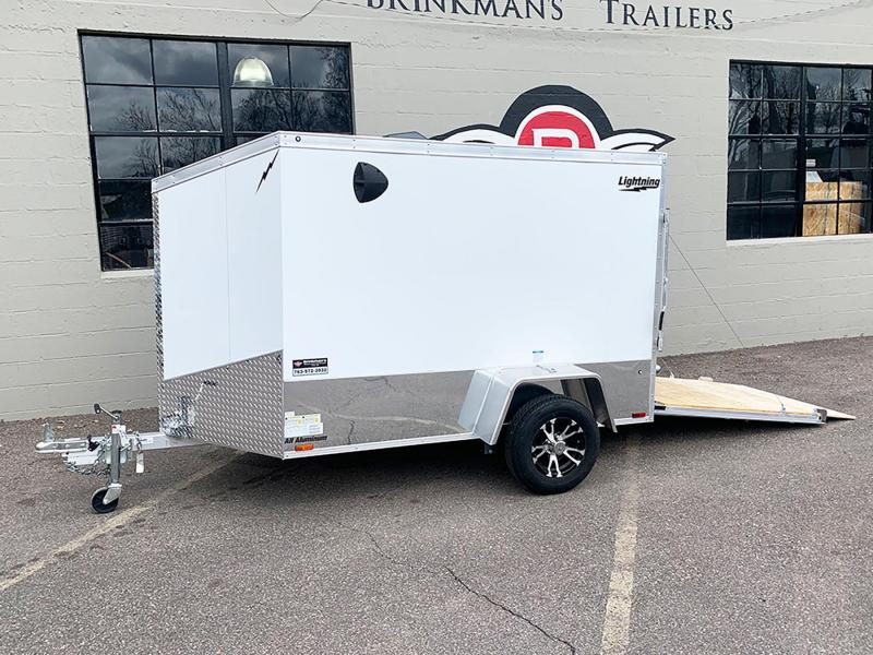 Lightning 5x8 Aluminum Enclosed Trailer - Rear Ramp!
