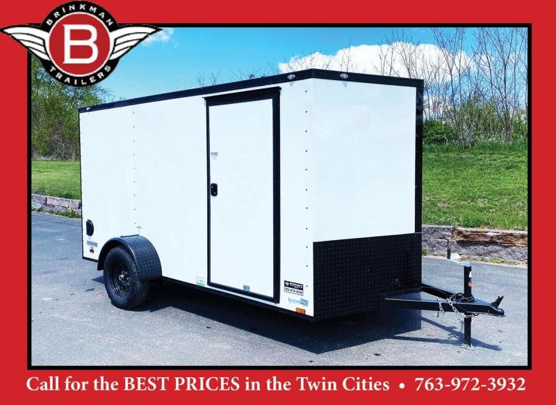Continental Cargo 6.5x12 Enclosed Trailer - Rear Ramp!