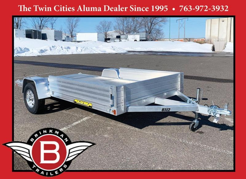 Aluma 8112 S-R Aluminum Utility Trailer - 3500# Axle - Side Load Ramps!