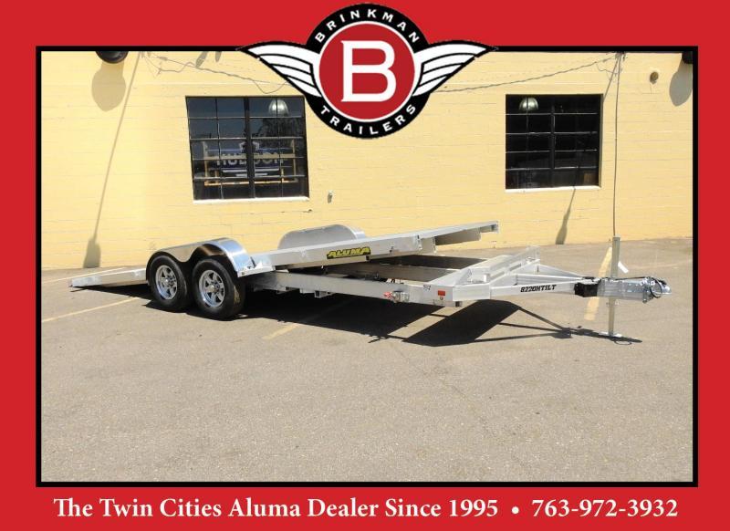 Aluma 8220H Aluminum Tiltbed Car Trailer - 10000#GVWR