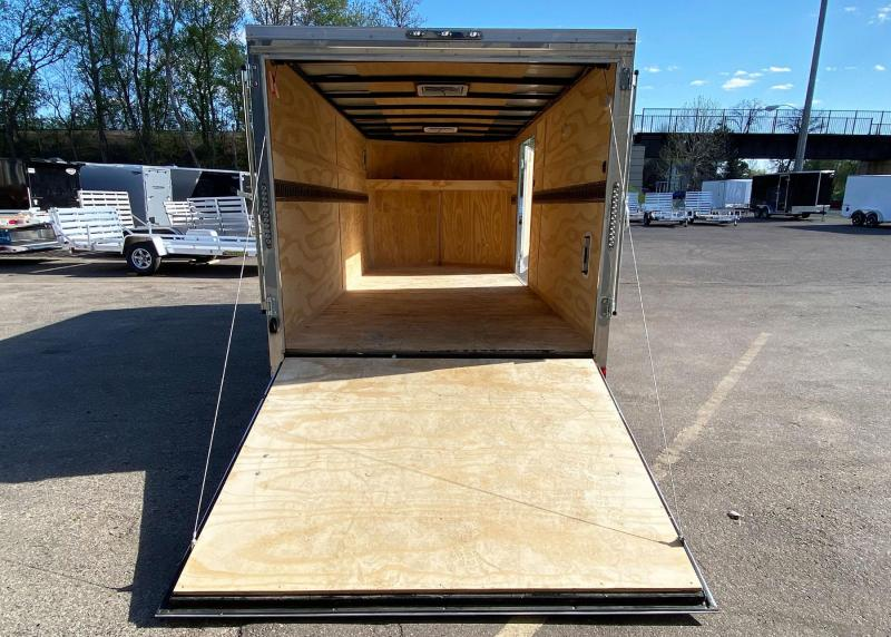 Continental 7x16 Enclosed Landscaper Trailer - Rear Ramp!