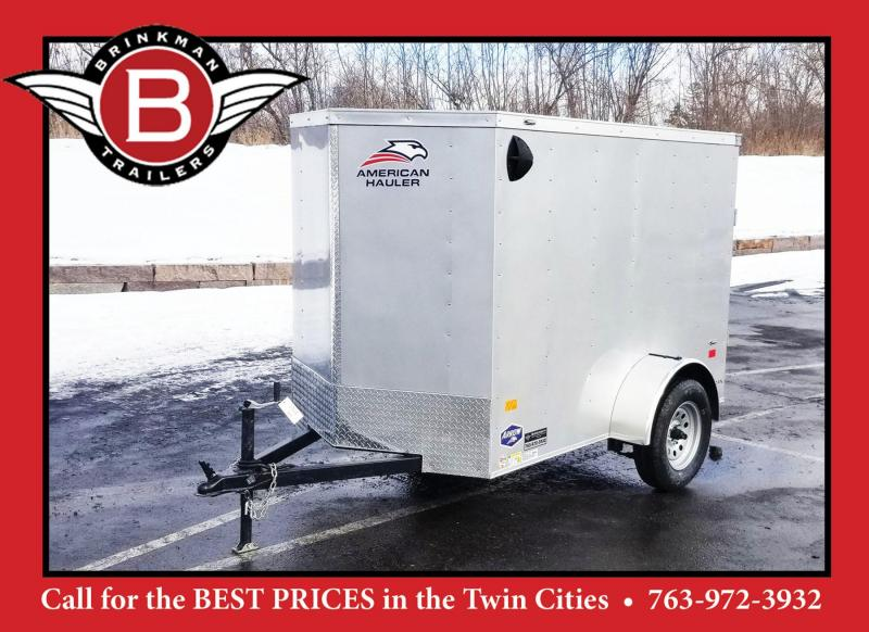 Deluxe American Hauler 5x8 Enclosed Contractor Trailer - Fantastic Buy!